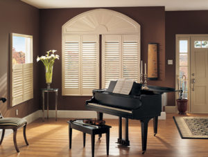 plantation shutter in living room